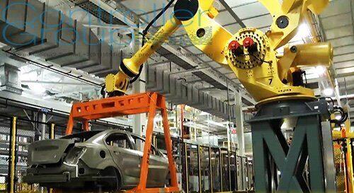 Конвейер готовая продукция на складе морская вода товарные транспортеры